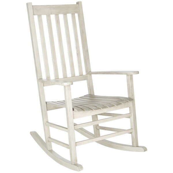 Safavieh Shasta White Wash Acacia Wood Rocking Chair