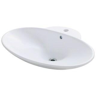 Polaris Sinks P062VW White Porcelain Vessel Sink