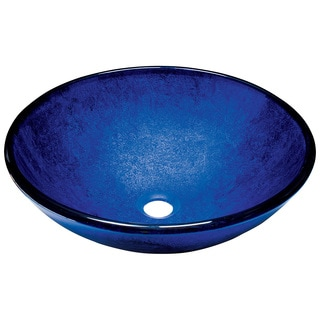 Polaris Sinks P446 Foil Undertone Royal Blue Glass Vessel Sink
