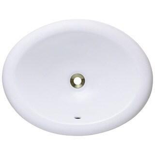 Polaris Sinks P7191OW White Overmount Porcelain Vanity Bowl