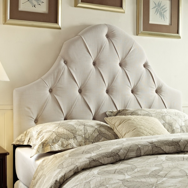 tufted taupe king california king size upholstered headboard 16211223 shopping. Black Bedroom Furniture Sets. Home Design Ideas