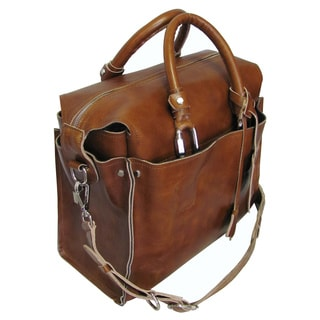Amerileather Holmes Investigator Leather Briefcase Tote