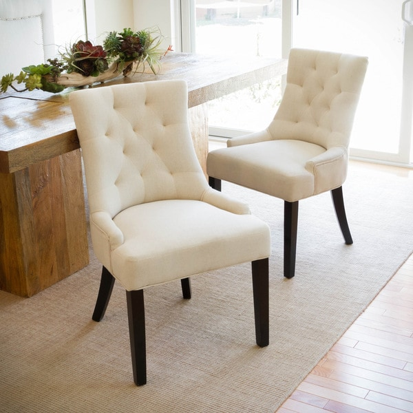 Accent Dining Room Chairs: Christopher Knight Home Hayden Tufted Fabric Dining