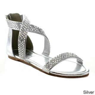 bb71d397845201 Silver Sandals  Silver Rhinestone Gladiator Sandals