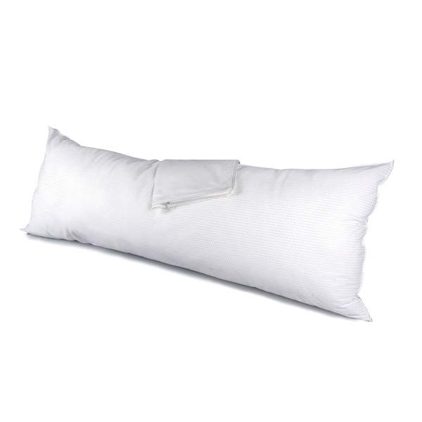RestMate Temperature Control Body Pillow with Protector - White