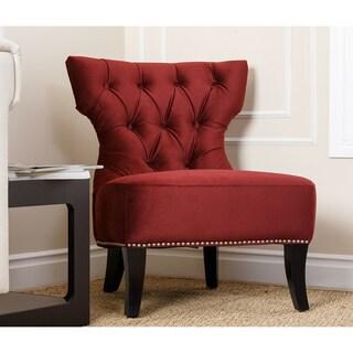 Monica Pedersen Nicole Burgundy Side Chair By Abbyson