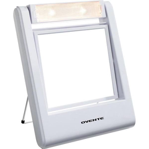 Ovente Mlt22w Square Lighted 1x 2x Dual Side Vanity Mirror