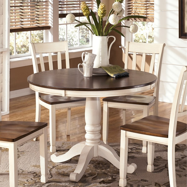 Signature Design By Ashley Whitesburg Round Dining Room Table 16227094 Overstock Com Shopping Great Deals On Signature Design By Ashley