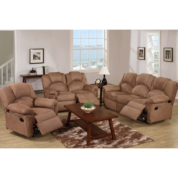 Overstock Living Room Sets: Kladno 3-piece Motion Recliner Living Room Set