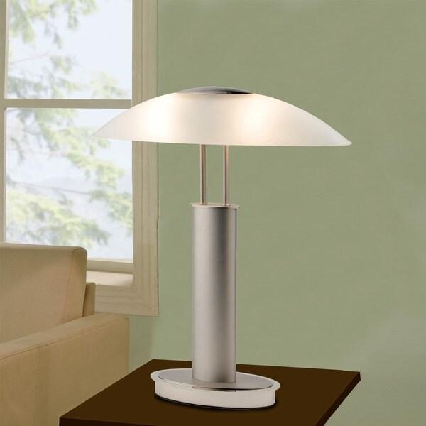 Artiva Usa Avalon Modern 2 Tone Table Lamp With Oval Canoe