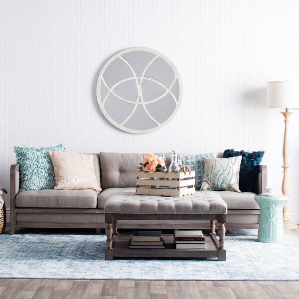 Creston 94 Inch Beige Linen Sofa 16239785 Overstock