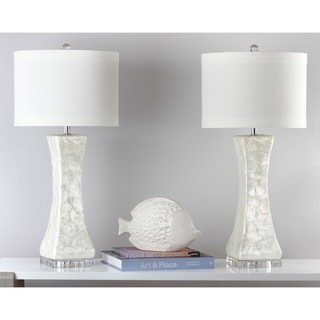 Round Mother Of Pearl Tile Table Lamp Overstock Shopping
