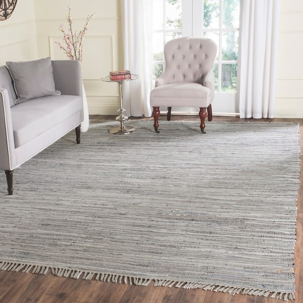 Safavieh Hand Woven Rag Rug Grey Cotton Rug 8 X 10