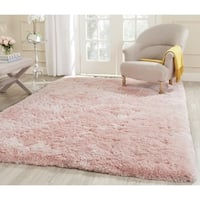 Safavieh Handmade Arctic Shag Pink Polyester Rug - 7'6 x 9'6