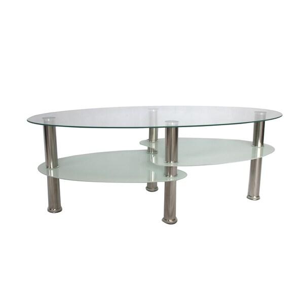 Glass 2 Tier Coffee Table 16248076 Overstock Com