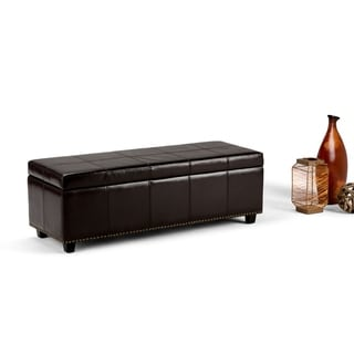 Wyndenhall Franklin Extra Large Rectangular Faux Leather