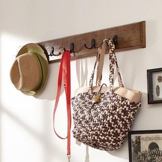 Everett Espresso 60 Inch Wide Hanging Entryway Shelf