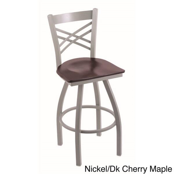 Steel Maple Contemporary Swivel Bar Stool 16248588
