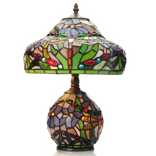 Tiffany Style Dragonfly Lamp With Lighted Base 964475