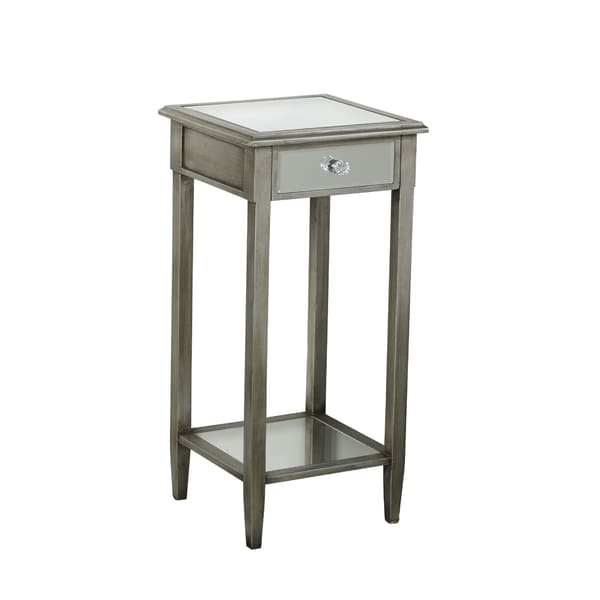 Elements 30-inch Mirrored 1-drawer Accent Table