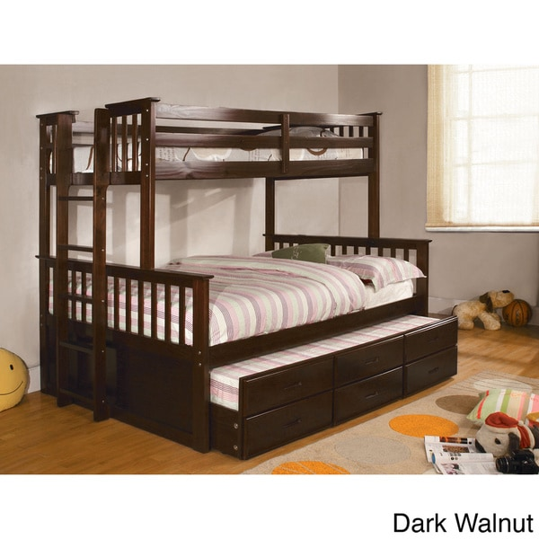 legnano twin over full bunk bed with twin trundle 16251716 shopping great. Black Bedroom Furniture Sets. Home Design Ideas