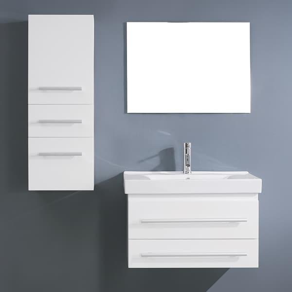 Virtu USA Antonio 29-inch White Single Sink Vanity Set ...