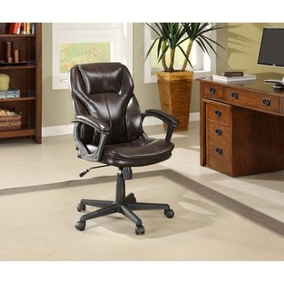 Serta Roasted Chestnut Brown Puresoft Faux Leather Manager