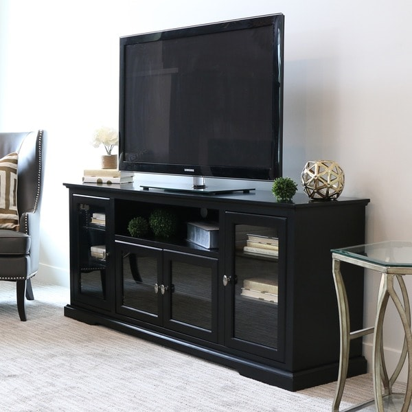 70 Inch Black Wood Highboy Tv Stand 16260496 Overstock