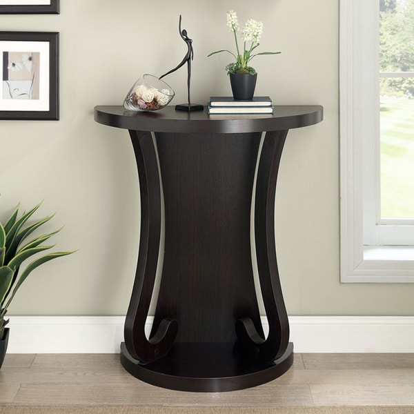 Cappuccino Finish Half Moon Entry Table 16260648