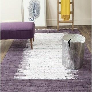 Safavieh Hand Woven Rag Rug Purple Cotton Rug 6 Square
