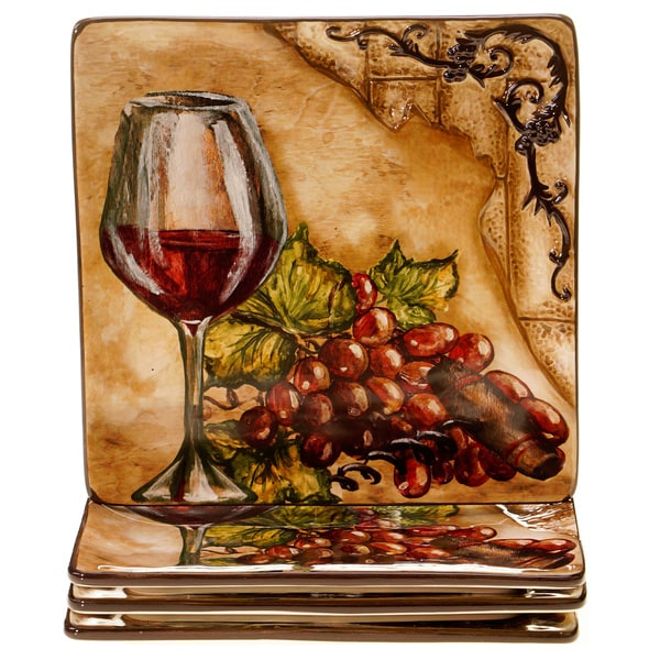 Hand Painted Tuscan View 8 5 Inch Ceramic Salad Dessert