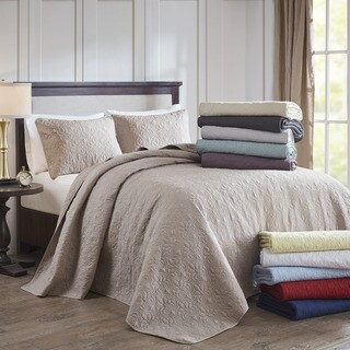 Madison Park Mansfield Oversized Bedspread Mini Set 9-Color Option