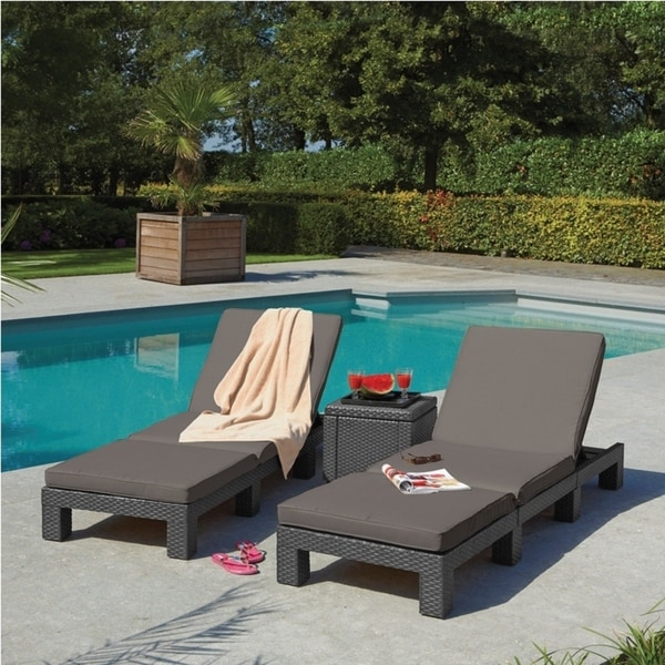 Adjustable Resin Wicker Lounge Chairs