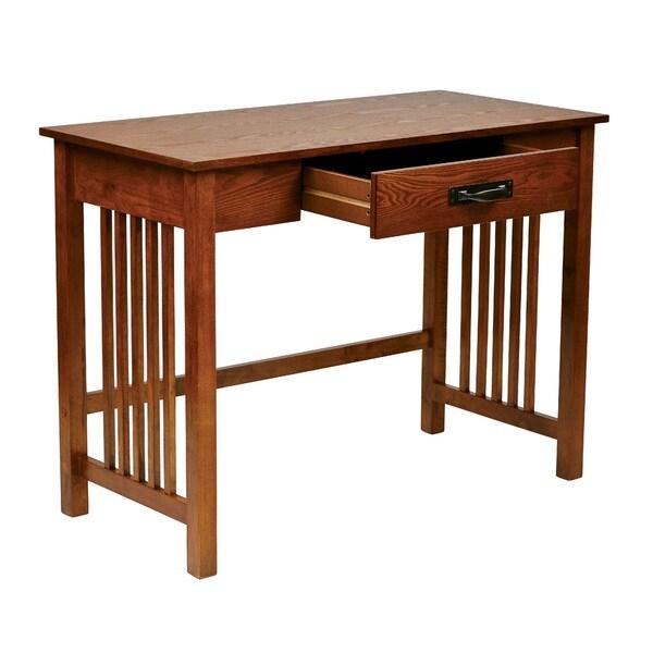Mission Style Ash Oak Desk 16269936 Overstock Com