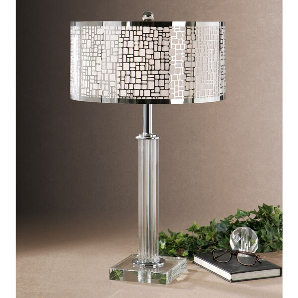 Uttermost Lucius 29 Inch Crystal Metal Fabric Table Lamp