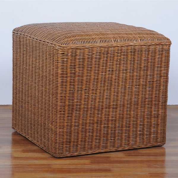International Caravan Campbell Square Hand Woven Rattan