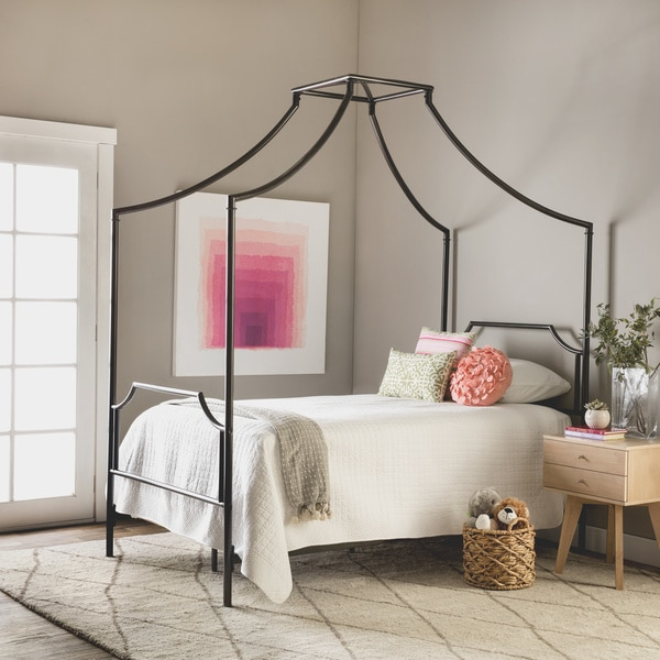 Bailey Twin Size Metal Canopy Bed 80005250 Overstock