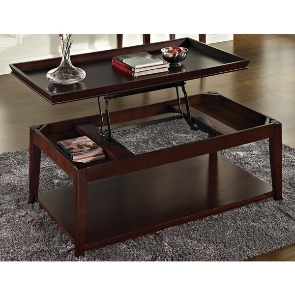 Carmine Faux Marble Coffee Table: Greyson Living Carmine Lift-top Coffee Table And Casters