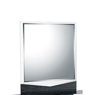 White Grey Hudson Mirror