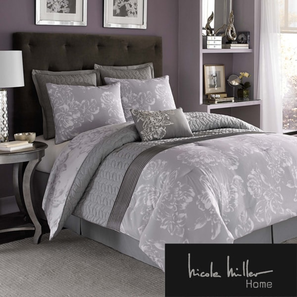 Nicole Miller Floral 7 Piece Comforter Set 16279037