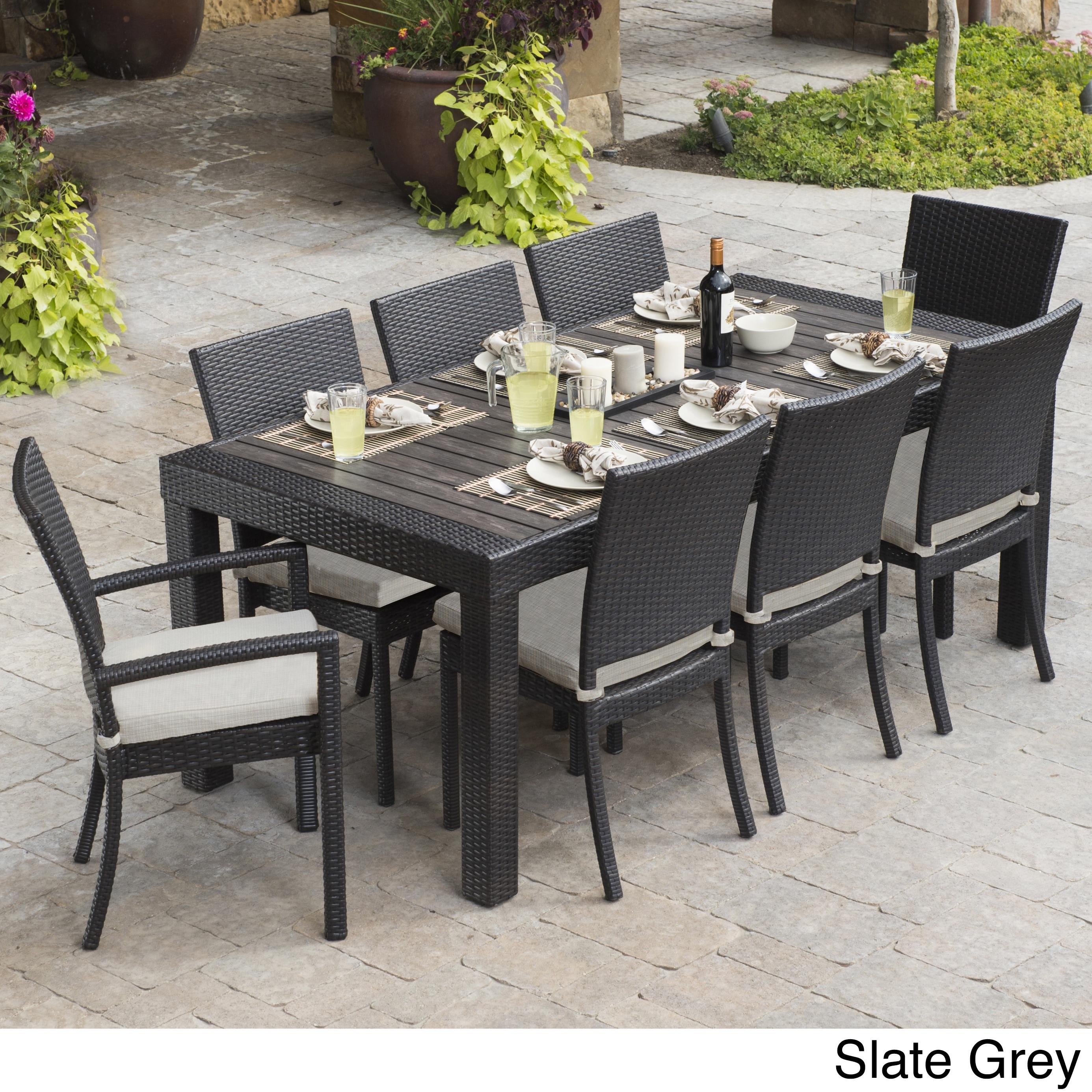 Rst Brands Deco 9 Piece Dining Set Patio Furniture