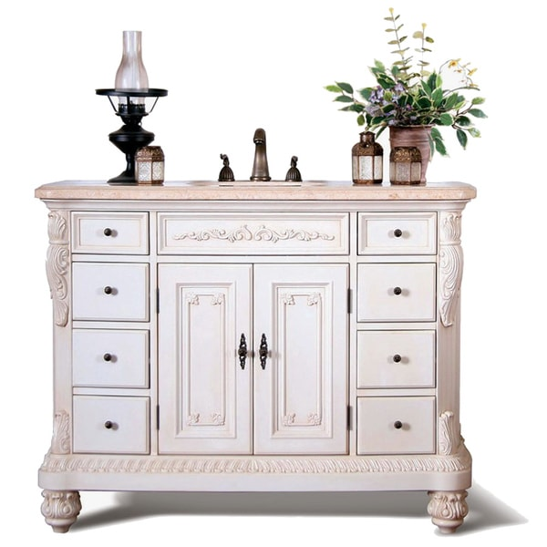 36 Inch Bathroom Vanity With Bottom Drawer Traditional Style Marble Top 48 inch Single Sink Bathroom ...
