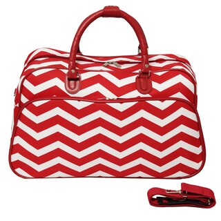 World Traveler Designer Chevron Zig-zag 21-inch Carry-on Duffle Bag