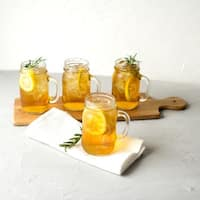 Personalized Home State Old Fashioned Drinking Jars (Set of 4)