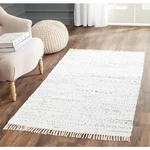 Rag Rug Prices: Safavieh Hand-woven Rag Rug Ivory Cotton Rug (3' X 5