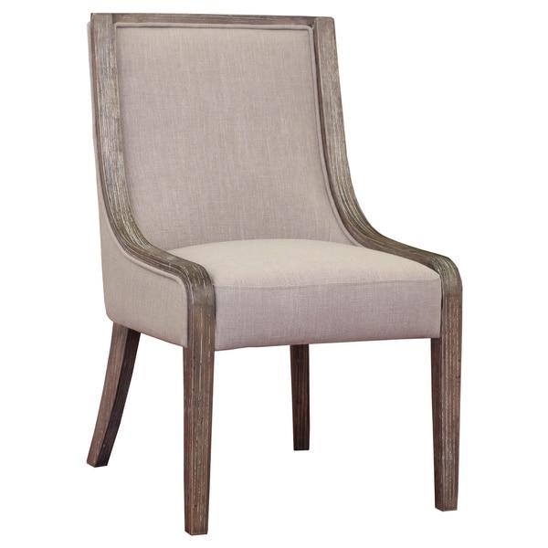 Overstock Dining Room Chairs: Arietta Beige Linen Dining Chair