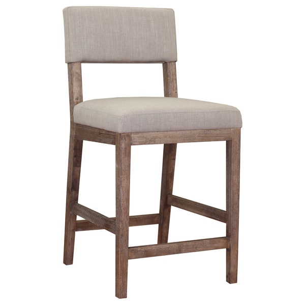 Counter Stools Overstock: Austin Beige Linen Counter Stool