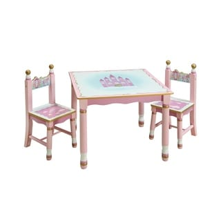 Princess Table And Chairs Set 12349626 Overstock Com