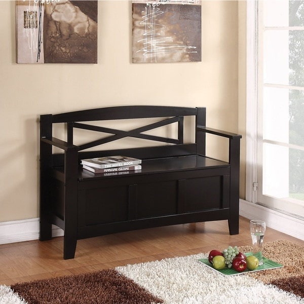 Entryway Bench With Flip Up Storage 16301320 Overstock
