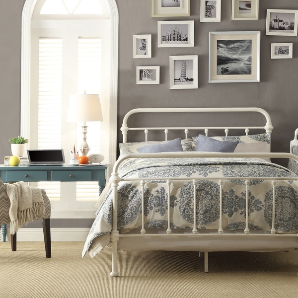 image of iron bed frame queen gallery